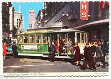 Vintage 1966 San Francisco Ca California Cable Car On Turntable Photo Postcard