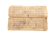 Antiguo Livre Oraciones Tibetano De Monje Manuscrit-Tibetan Manuscrito- 9122