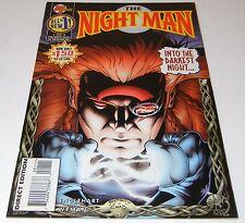 """1995 MALIBU COMICS """"THE NIGHTMAN"""" #1 DIRECT EDITION  UNREAD NEAR MINT- MINT"""