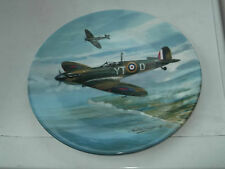 1990 COALPORT PLATE  DAWN PATROL  FROM REACH FOR THE SKY  SERIES