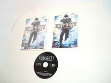 CALL OF DUTY WORLD AT WAR complete in box with manual Nintendo Wii videogame II