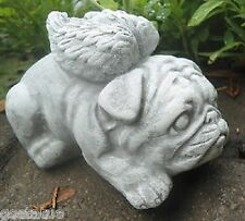 "latex W/ plastic backup angel bulldog mold plaster concrete pug angel mold 4""L"