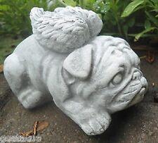 "latex W/ plastic backup angel bulldog mold plaster concrete pug angel mold 4""L"