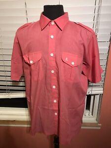 Vintage NOS Tori Richard Honolulu Pink Shirt Mens XL