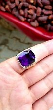 Amethyst ring sterling silver size 18 asia. Excellent color stone