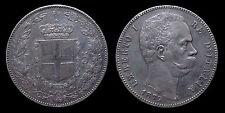 pci1145) Regno d'Italia Umberto I lire 5 scudo 1879