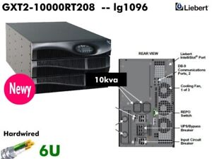 lg1096Q~ Liebert 10kva UPS GXT2-10000RT208 208v 240v Online 6U 10000va #NewBatt