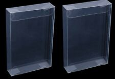 lot 2x new set pair clear nintendo 64 n64 game cartridge case protective sleeve