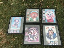 1985 Topps Garbage Pail Kids Framed Card Posters Lot 1980s