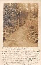 Patten Maine White Pine Camp Real Photo Antique Postcard J60370
