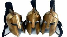 SET OF 3 Armor Helmet Medieval Sparrtan 300 Movie Greek Relica Antique Finish