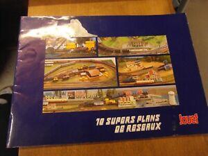 BROCHURE JOUEF 1984, 10 SUPERS PLANS DE RESEAUX HO PR train locomotive rails