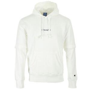 Vêtement Sweats Champion homme Hooded Sweatshirt taille Blanc Coton