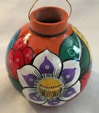 """Painted 3.5"""" Bright Floral Ornament Vase"""