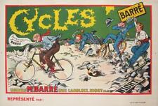 Cycles Barre Original Vintage Bicycle Poster Cycling