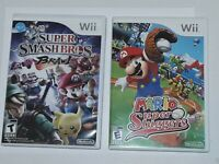 BUNDLE LOT SUPER SMASH BROS. BRAWL & MARIO SUPER SLUGGERS FOR Wii COMPLETE
