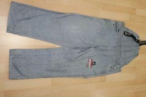 L3375 FUBU Latzhose Jeans 34  grau  mit Mängeln