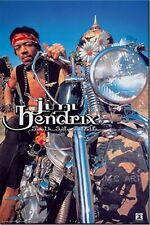 Jimi Hendrix on his Harley Davidson motorcycle poster 22 x 34in. original poster