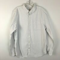 "Gap Men's White ""Modern Oxford"" Plaid Button Front Shirt Size XL Extra Large"