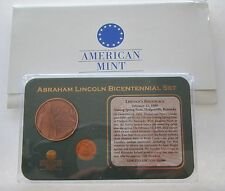 2009 D Abraham Lincoln Bicentennial Set; Birthplace Coin & Medal, American Mint
