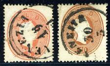 AUSTRIA ITALY LOMBARDY VENETIA SC#13-14 SASSONE #33-34 USED AS SHOWN