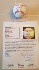 MIKE TROUT signed OML baseball JSA COA ANGELS Full Letter