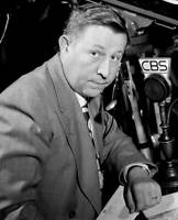 OLD CBS RADIO TV PHOTO Russ Hodges Cbs Sports Announcer At The Boxing Matches 1