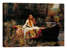 John William Waterhouse The Lady Stampa su tela Canvas effetto dipinto