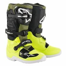 2020 bambini Alpinestars Tech 7 7s Motocross Stivali Verde Giallo Neon BOOT CROSS