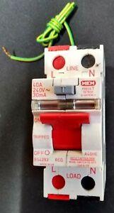 MEM A40HE 40 Amp 30mA D.P RCD  Memera 2000 ! Live Tested !