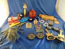 Gag toys wood train whisles crazy glasses furry spider dice sparkler toys kazoo