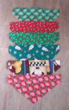 CHRISTMAS---BANDANA---Over the Collar---Groomer Supply---12pc Lg-XLg Dog