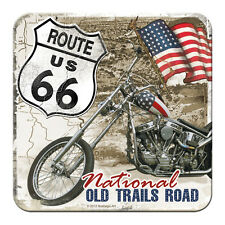 10x ROUTE 66 - NATIONAL - METALL UNTERSETZER 9x9cm COASTER 46111
