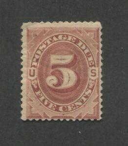 1884 US Postage Due Stamp #J18 Mint Hinged Fine Original Gum