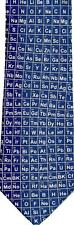 Mesa De Química Ciencia Metal GAS Periodic líquido elementos Manga Corbata Seda Azul