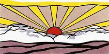 Sunrise 1965 by Roy Lichtenstein - Art Print Poster Sun Sunrays Clouds 39.5x19.5