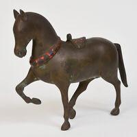 19th Century, Mandalay, Antique Burmese Bronze Walking Horse