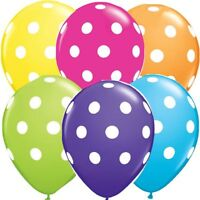 "Polka Dots Spots Spotty 12"" LATEX BALOONS Birthday Party Decoration Supplier"
