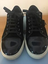 BNIB Men's Lanvin Black Patent Toe Low-top Trainers Size UK9 RRP £310