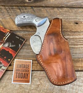 Vintage Bianchi #5CL Brown Leather Suede Lined OWB Holster For Chief Revolver