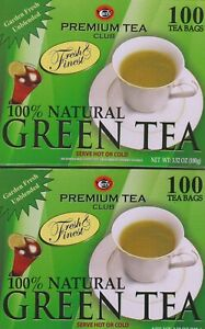 2 PACK PREMIUM GREEN TEA (200 TEA BAGS TOTAL) FACTORY SEALED BOX