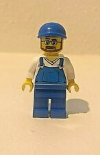 LEGO City Male Utility Worker w/ Blue Overalls, from Sets 4432 & 66358, Retired!