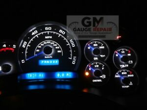 Speedo Gauge Bulbs to White LED Upgrade Package DIY for GM Trucks and SUV 03-06