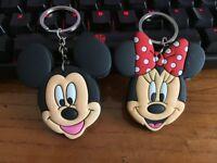 mickey minnie big head silica gel key chain key chains action key ring anime