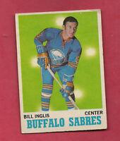 1970-71 OPC  # 130 BUFFALO SABRES BILL INGLIS  ROOKIE CARD
