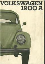 VW KÄFER 1200 A CABRIOLET LIMOUSINE 1964 Betriebsanleitung Handbuch Bordbuch BA