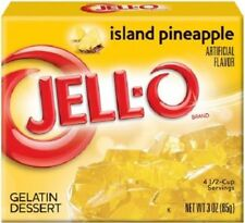 Jell-O Island Pineapple Instant Jello Gelatin Mix 3 oz Box