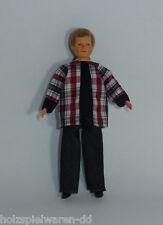 Caco 7021600 Uomo Bambola 14 cm con Pantalone,Camicia Pupazzo flessibile 1:12