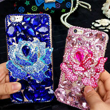 Cute Bling Phone Cases Glitter Sparkly Rhinestone Jeweled Soft back Cover Case D