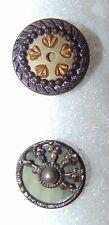2 Victorian Celluloid Buttons 2851
